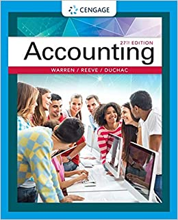 Accounting Warren, Carl S., Reeve, James M., Duchac, Jonathan 9781337272094