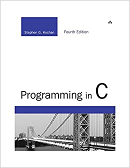 Programming in C (Developer's Library) (9780321776419) Kochan, Stephen