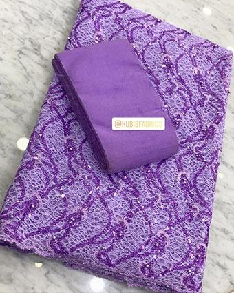 Lilac net lace