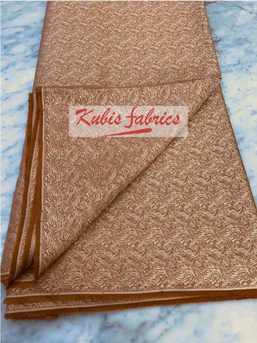 brown random print cashmere