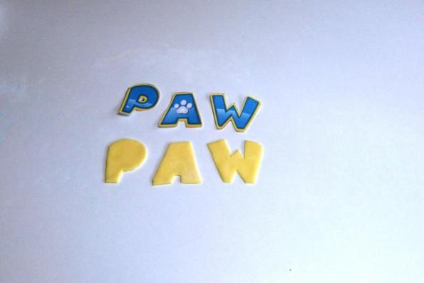 gelbes kuchendesign logos, paw patrol kuchen - motivtorte tutorial - das logo - kuchen, kind, Design ideen