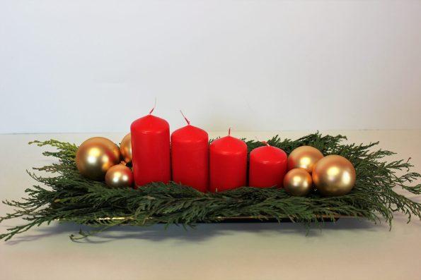 Basteln, DIV, Last Minute Adventsgesteck - in 5 Minuten zur festlichen Adventsdeko!