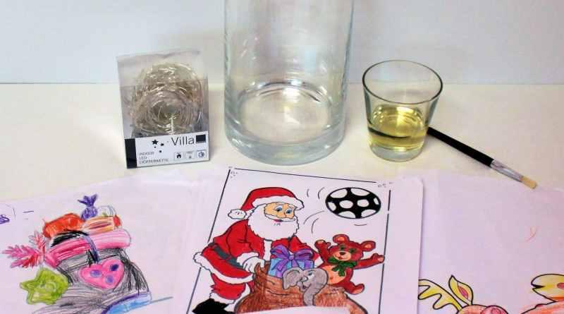 Diy basteln mit kindern weihnachtliches windlicht - Weihnachtsdekoration basteln mit kindern ...