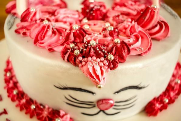 Motivtorte Katze, Torte Pink, Torte Katze, Katzenkuchen, Kindergeburtstag, Katzenfan, Kuchen für Katzenfan, Kuchen der wie eine Katze aussieht, Schokoladenkuchen mit Vanillecreme