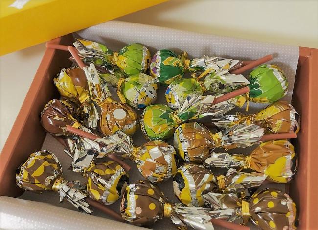 道頓堀ボンボンタウン 中のチョコ
