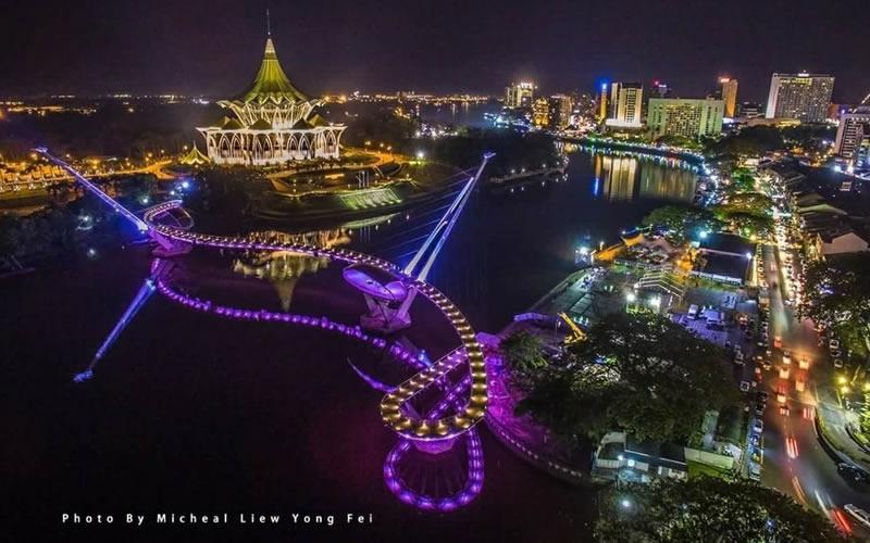 Kuching City at night