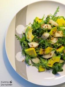 salatka z gruszka i awokado