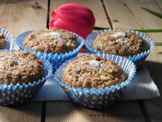 babeczki z jabłkiem i kokosem