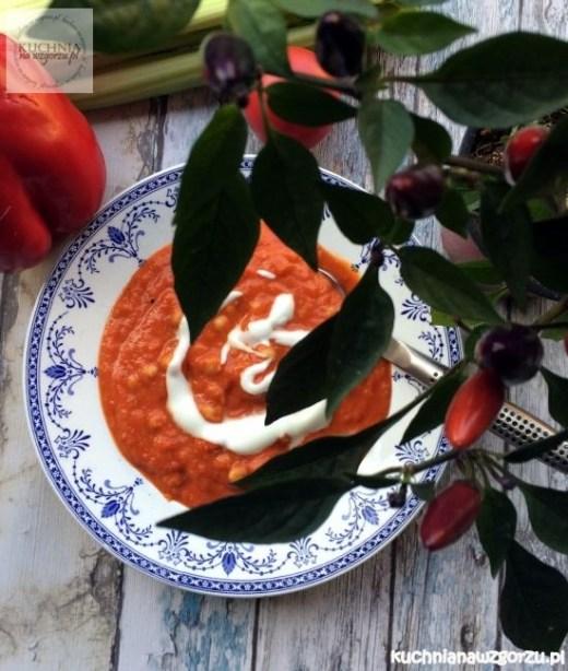 zupa z pieczonych pomidorow