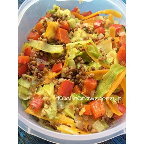 kasza z warzywami lunch do pracy