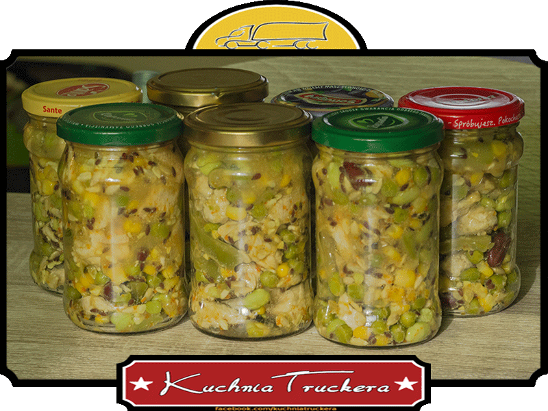 Filet Z Indyka Z Warzywami Na Patelnię I Ziarnami Słoiki W