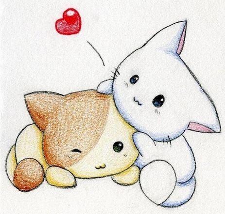 gambar kucing lucu kartun 4