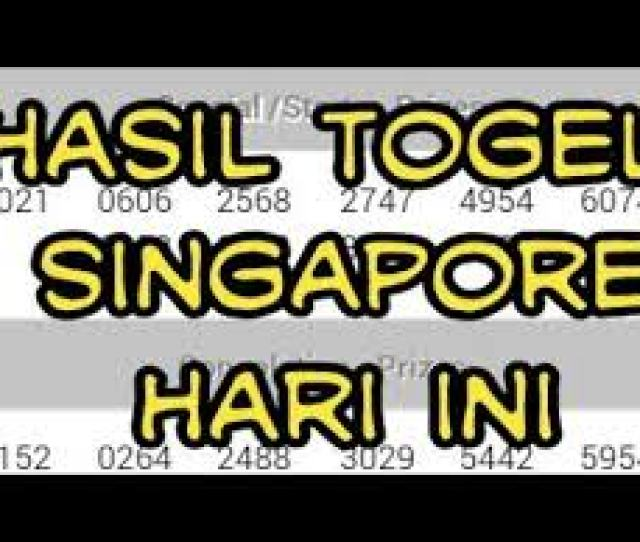 Data Sgp Pengeluaran Togel Singapore Sgp Agen Sbobet