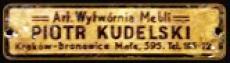 Sygnatura Artystycznej Wytwórni Piotra Kudelskiego