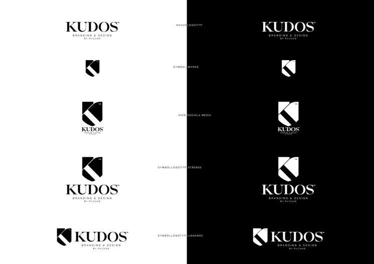 Kudos logotypvarianter
