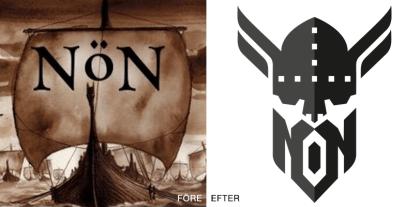 Norröner/NöN logo logotyp grafisk design e-game hoodie Norrköping