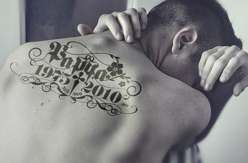 Tatuering › till minne av pappa