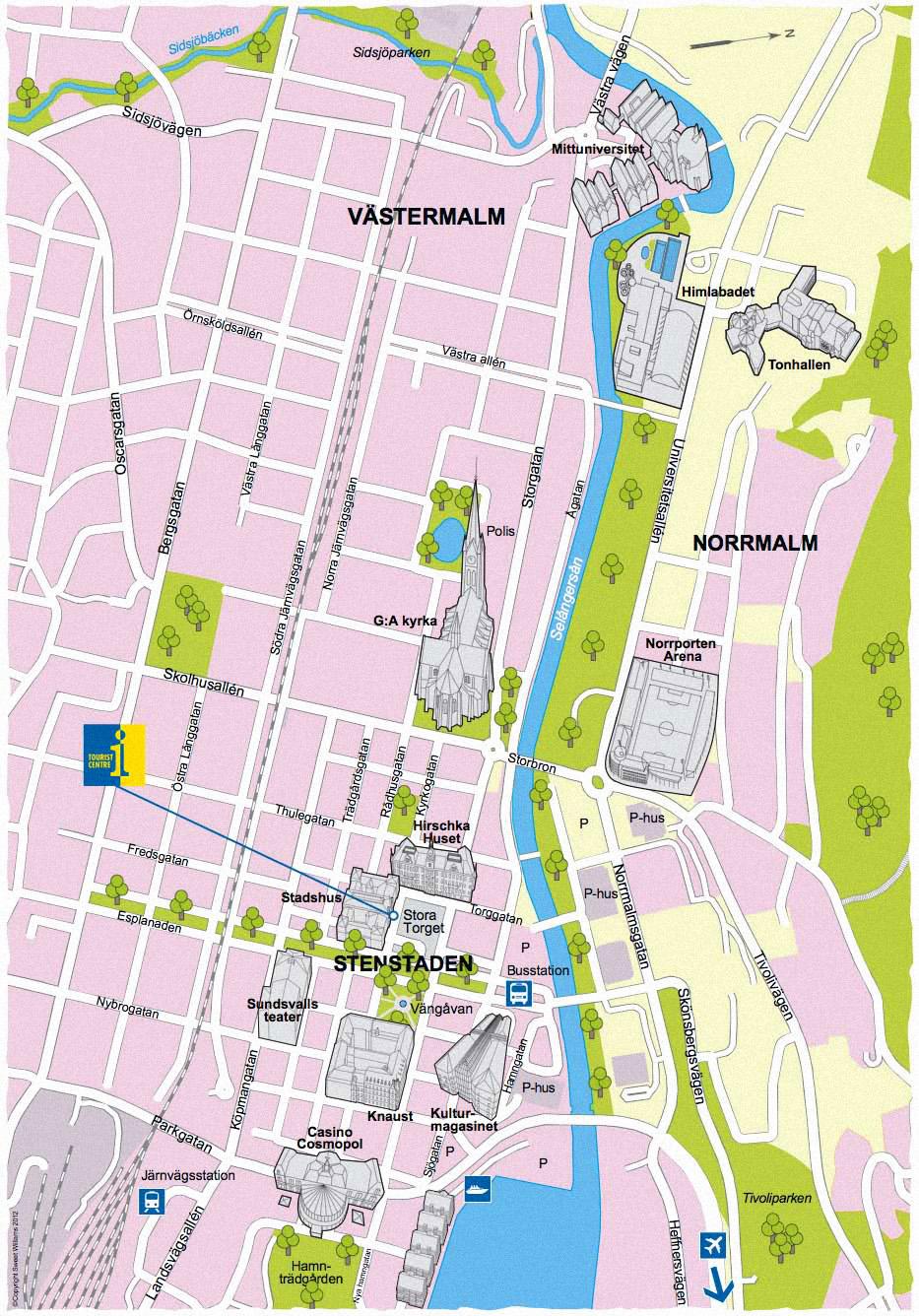 turistkarta Sundsvall
