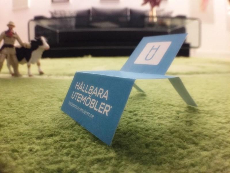 Hållbara Utemöbler visitkort