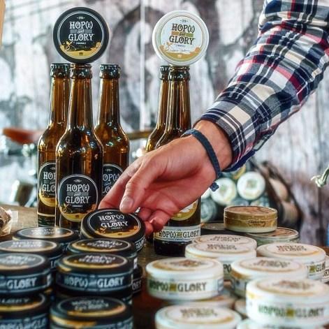 Hop(e) & Glory-produkter. Foto: Peter Hedström