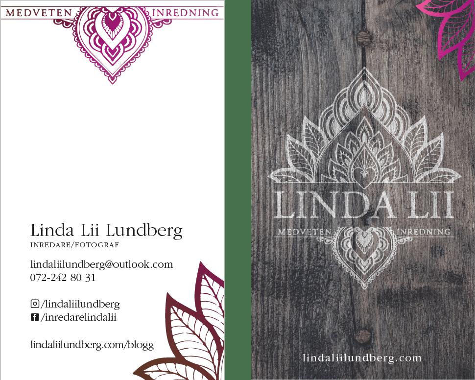 Linda Lii Lundberg Medveten Inredning visitkort logotyp logo