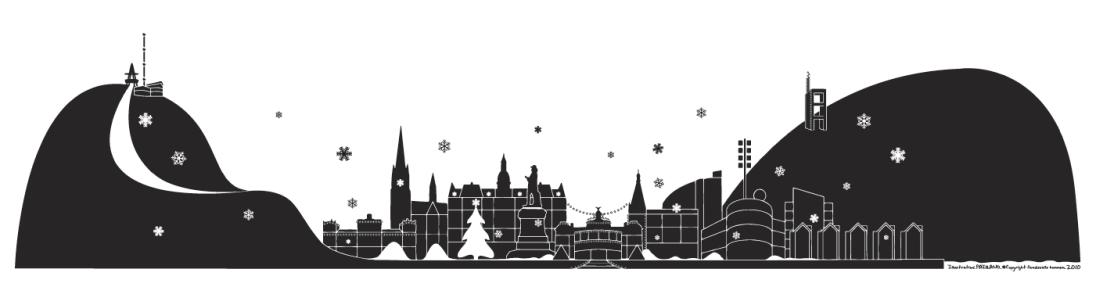 stadssiluett vinter