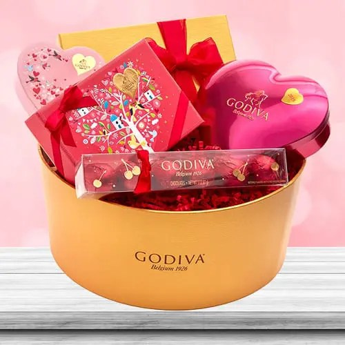 Godiva Valentine's Gourmet Chocolates Delight Gift Basket Sweepstakes