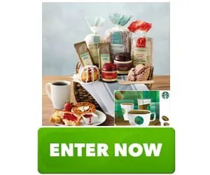 Starbucks Deluxe Breakfast Bakery Gift Basket Sweepstakes