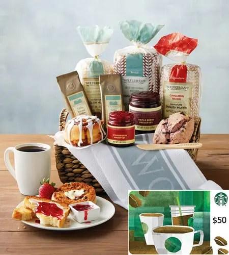 Starbucks Deluxe Breakfast Bakery Gift Basket Sweepstakes