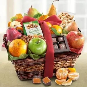 fruit and nuts gift baskets