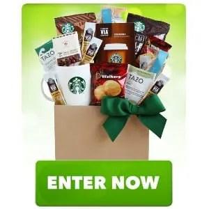 Starbucks Coffee and Chocolate Bar Squares Gift Basket Sweepstakes