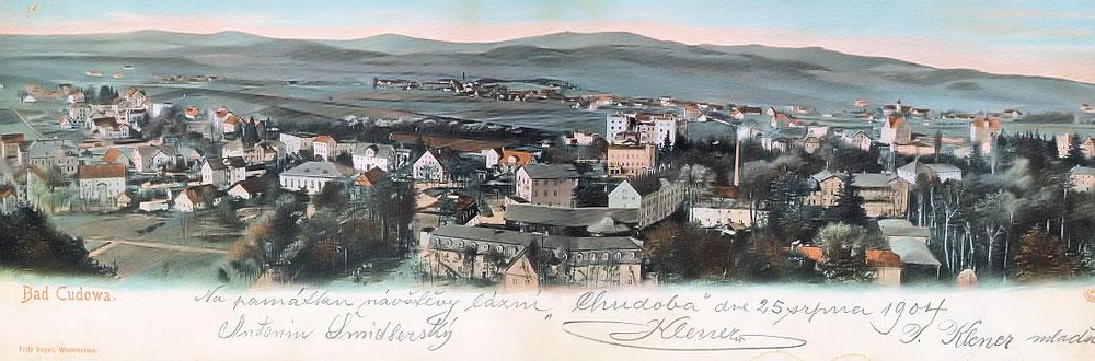 Panorama na starą Kudowę