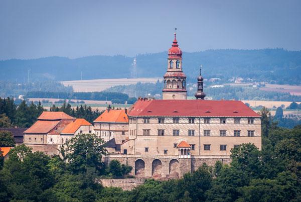 Zamek w Nachodzie w Czeskiej Republice