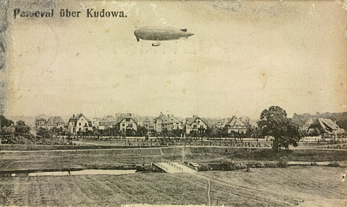 sterowiec nad Bad Kudowa -1941 rok