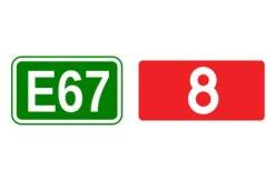 Międzynarodowa droga E67, krajowa droga nr 8
