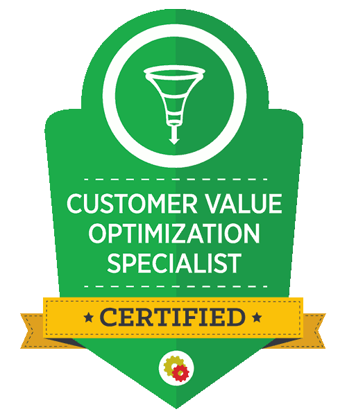 certified customer value optimization specialist - conversion funnel mastery