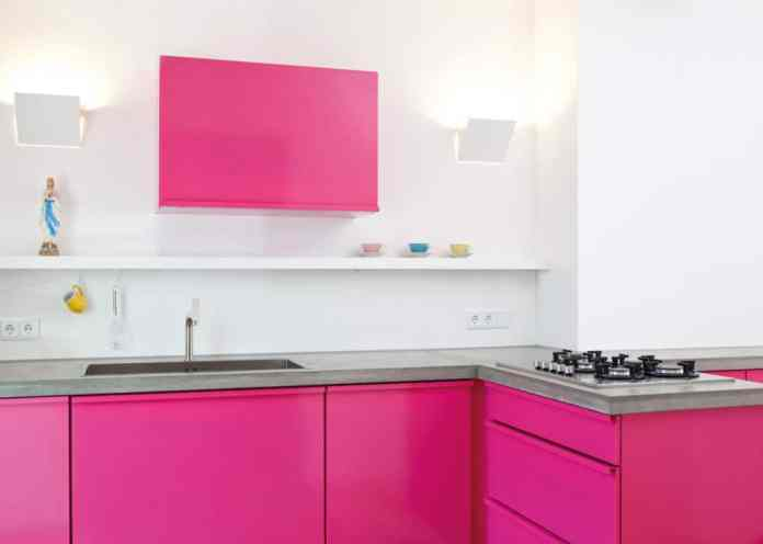 Beetroot?  Here you go!  Popstahl kitchens are available in almost all shades of the RAL color palette.  The company has also associated each color with a characteristic fruit or vegetable variety in the name.  (Photo: Jan Kulke)