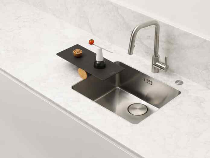 "The ""Mythos"" basin was awarded the iF Design Award 2020 for its elegant design language and was named reddot winner 2020.  (Photo: Franke GmbH)"