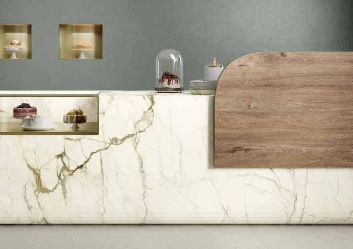 A smooth, purist surface that is reminiscent of the ancient architecture of Rome with an antique-looking color gradient - and looks so homely and dignified.  (Photo: SapienStone)