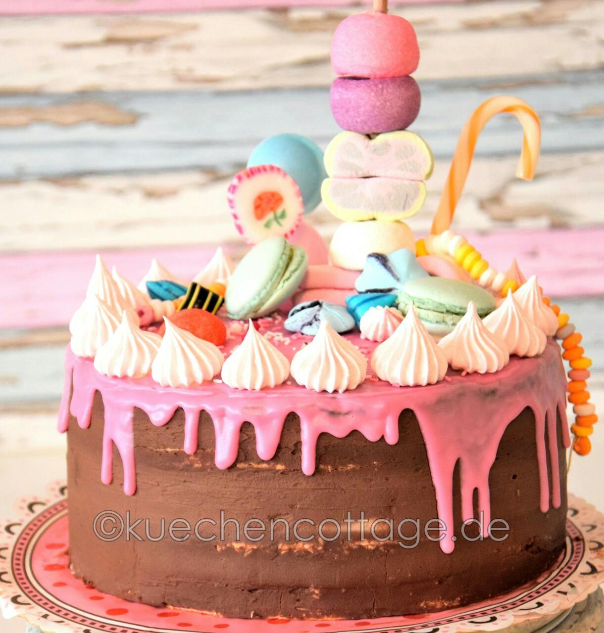 schoko himbeer torte im candy look drip cake k chencottage. Black Bedroom Furniture Sets. Home Design Ideas