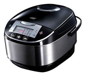 Russell Hobbs Multicooker 5,0l (digitales Display + Timer), 11 Kochprogramme (Schongarer, Dampfgarer, Slow Cooker, Reiskocher,