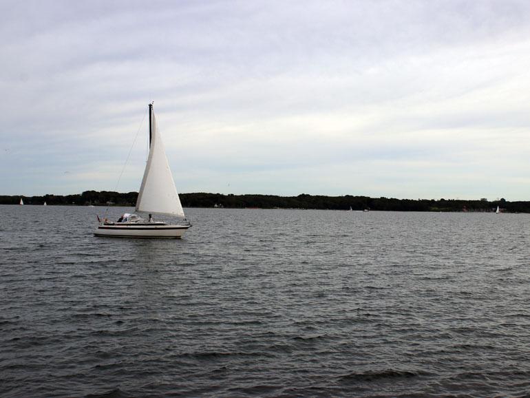 Kiel Holtenau Segelboot