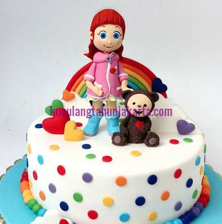 jual rainbow ruby birthday cake jakarta