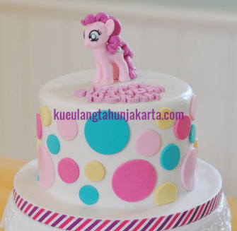 desain birthday cake sederhana my little pony