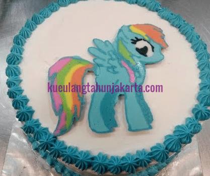 jual kue ulang tahun little pony sederhana
