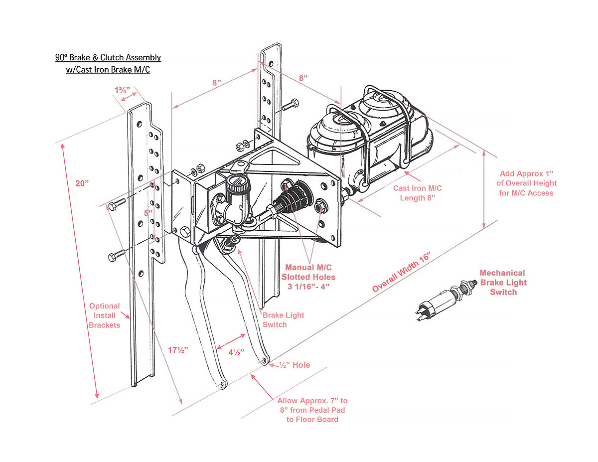 Reverse 90 Under Dash Kugel Komponents