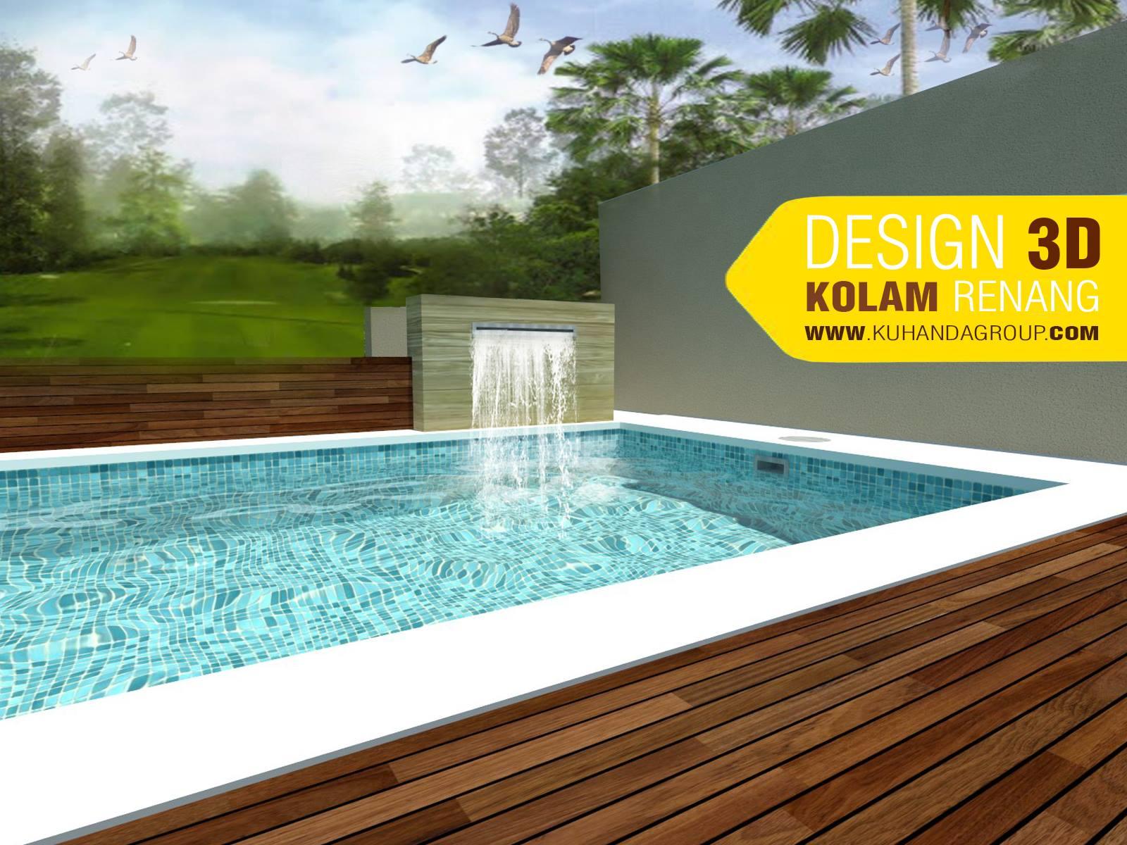 ilustrasi 3D kolam renang