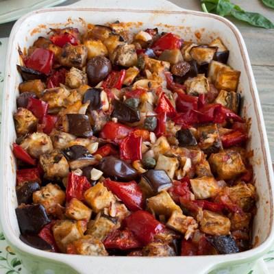 Kaponata pečena u rerni / Sicilian caponata baked in the oven