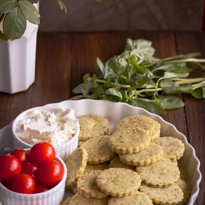 Slani krekeri sa bosiljkom / Basil cookies