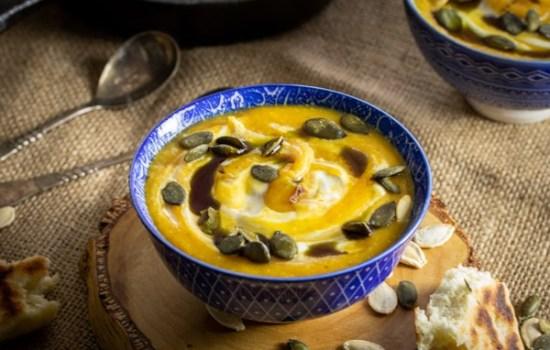 Čorba od crvenog sočiva i bundeve / Red lentils and pumpkin cream soup